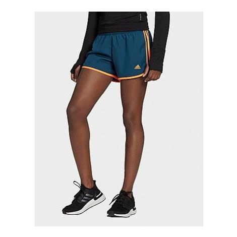 Adidas Marathon 20 Shorts - Wild Teal / Screaming Orange - Damen, Wild Teal / Screaming Orange