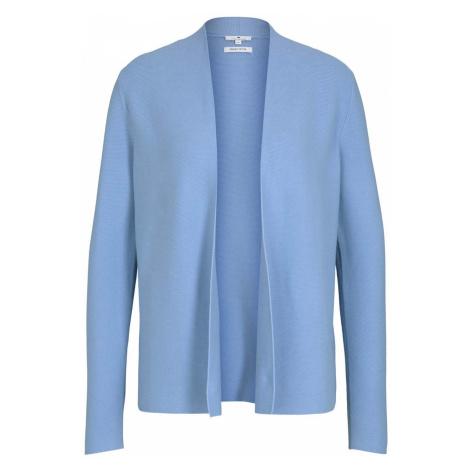 TOM TAILOR Damen Strukturierter Cardigan mit Bio-Baumwolle , blau