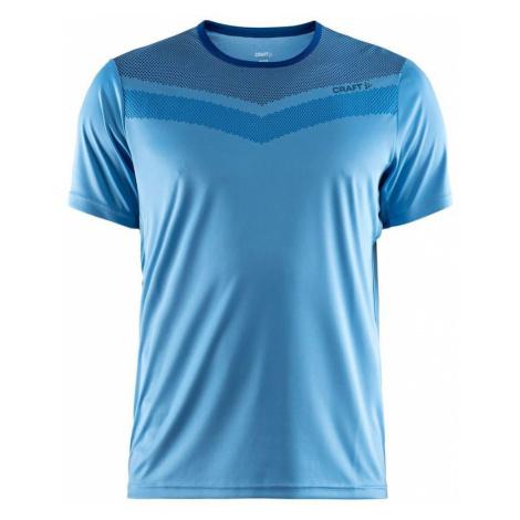 T-Shirt CRAFT Eaze One 1905876-352367 - light blue mit Druck