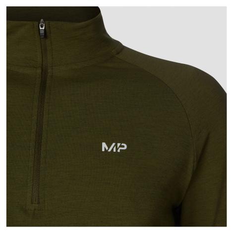 MP Performance 1/4 Zip - Militärgrün/Schwarz