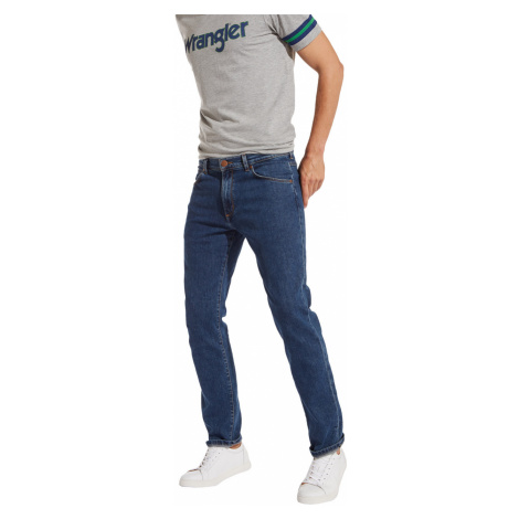 Wrangler Herren Jeans Greensboro - Regular Fit - Blau - Darkstone