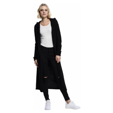 Urban Classics Cardigan Damen LADIES HOODED FEATHER CARDIGAN TB1750 Schwarz Black