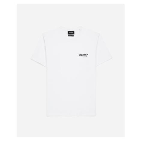 The Kooples - T-Shirt weiß Baumwolle Schriftzug Brust - DAMEN