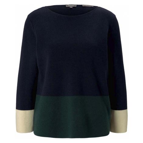 TOM TAILOR MINE TO FIVE Damen Kurzer Pullover mit Colorblocking, blau
