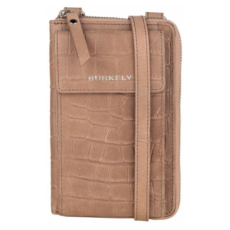Burkely Handytasche Croco Caia taupe