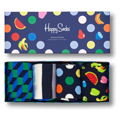 Happy Socks Geschenkbox NAVY SOCKS GIFT SET 4-PACK XNAV09-6600 Mehrfarbig