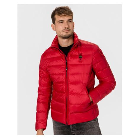 Blauer Jacke Rot