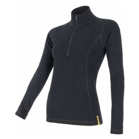 Damen T-Shirt Sensor MERINO DOUBLE FACE black 15100031