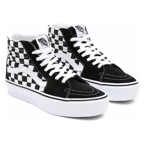 VANS Sk8-hi Platform 2.0 Schuhe ((checkerboard) Black/white) Damen Weiß