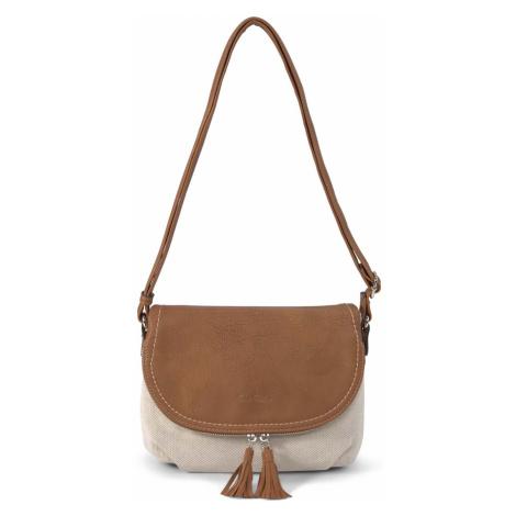 TOM TAILOR Damen Lari Überschlagtasche mit Quasten, beige