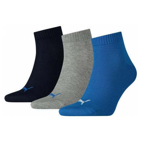 Puma Unisex Herren Damen Quarter Socken Plain - 3er Pack