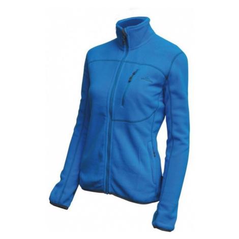 Blaue sportsweatshirts mit reißverschluss für damen
