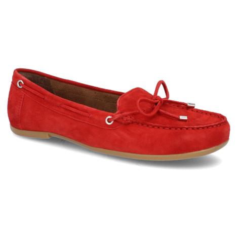 Rote mokassins für damen