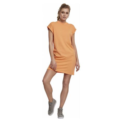 Urban Classics Kleid Damen LADIES TURTLE EXTENDED SHOULDER DRESS TB1910 Orange Papaya