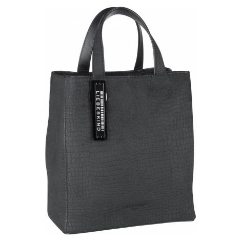 Liebeskind Berlin Handtasche Paper Bag S Suede Lizard Black (6.6 Liter)