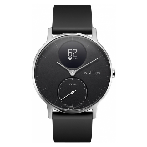 Withings Steel HR, 36mm, Schwarz - Hybrid Smartwatch - Herzfrequenzmessung, Smart Notifications