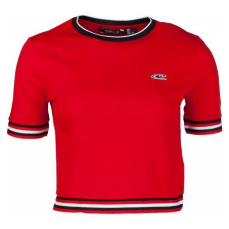 O'Neill LW SPORT STRIPE RIB TEE rot - Damen-T-Shirt