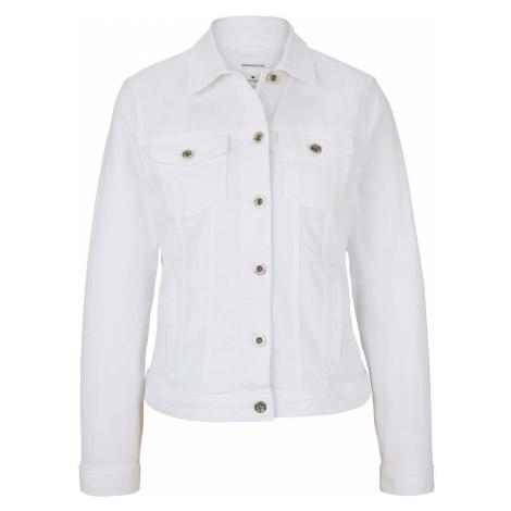 TOM TAILOR Damen Gefärbte Jeansjacke mit Bio-Baumwolle , weiß