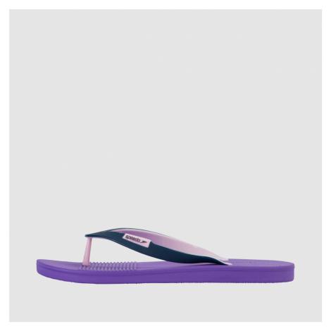 Speedo Saturate II Womens Flip Flops, Lila/Dunkelblau