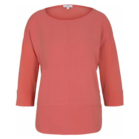 TOM TAILOR Damen Loose Fit Shirt im Materialmix, rosa