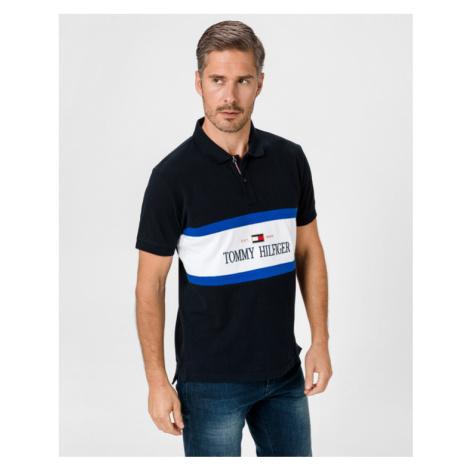Tommy Hilfiger Logo Insert Polo T-Shirt Blau