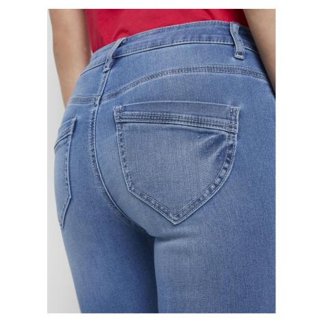 TOM TAILOR Damen Kate Slim Jeans in Ankle-Länge, blau