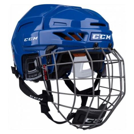 CCM FITLITE 90 COMBO SR dunkelblau - Hockey Helm