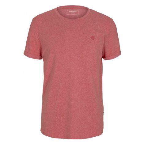 TOM TAILOR DENIM Herren Strukturiertes T-Shirt, rot