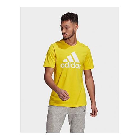 Adidas Essentials Big Logo T-Shirt - Yellow / White - Herren, Yellow / White