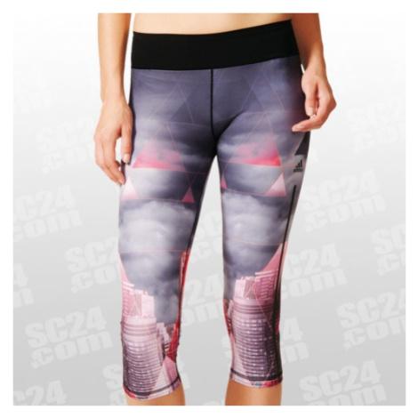 Adidas Workout 3/4 Tight City Women grau/pink Größe XS