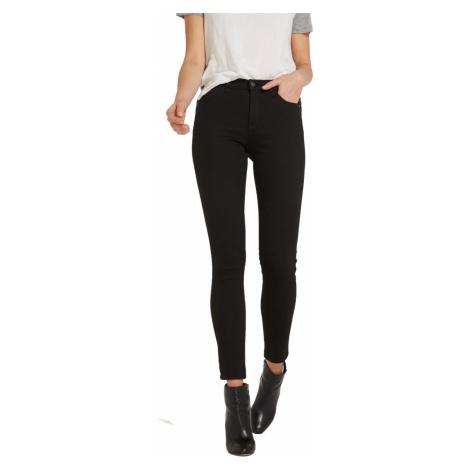 Wrangler Damen Jeans High Skinny - Skinny Fit - Schwarz - Rinsewash