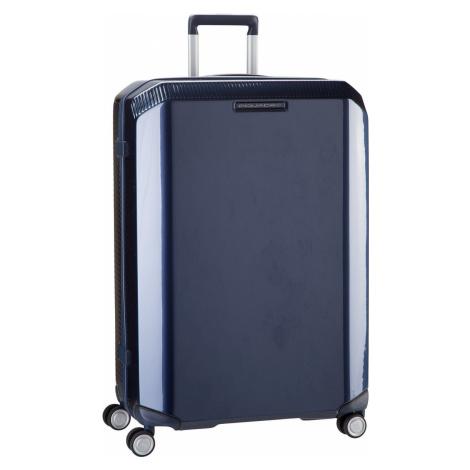 Piquadro Trolley + Koffer Cubica 4428 Blu (89 Liter)