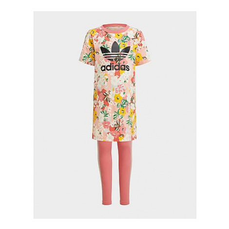 Adidas Originals HER Studio London Floral Tee Dress Set - Trace Pink / Multicolor / Black, Trace