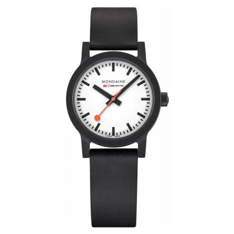 Mondaine MS1.32110.RB Damen-Armbanduhr Essence Weiß/Schwarz