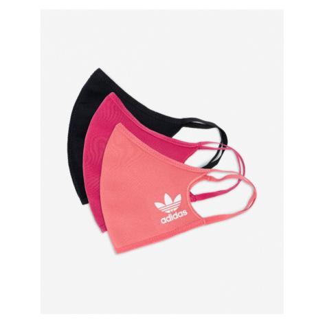 adidas Originals Face mask 3 pcs Schwarz Rosa