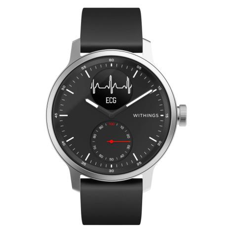 Withings ScanWatch, 42mm, Schwarz - Hybrid Smartwatch mit EKG, Herzschlagmesser und Blutsauersto