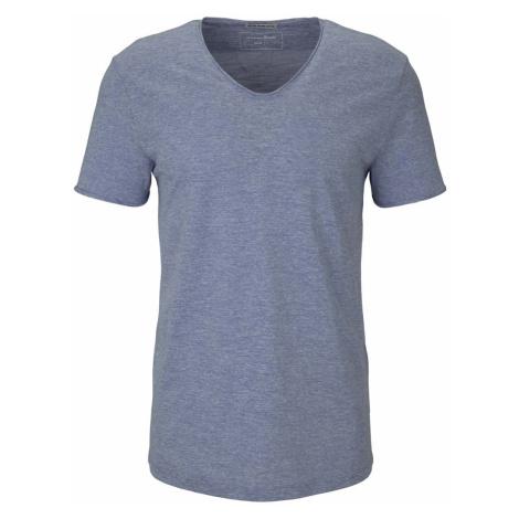 TOM TAILOR DENIM Herren strukturiertes T-Shirt, blau