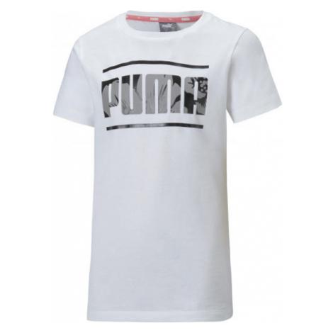 Puma ALPHA TEE weiß - Mädchen Trainingsshirt