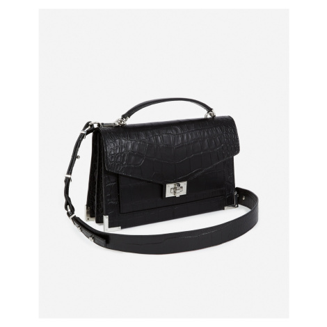The Kooples - Medium print croco Emily bag in black - HERREN