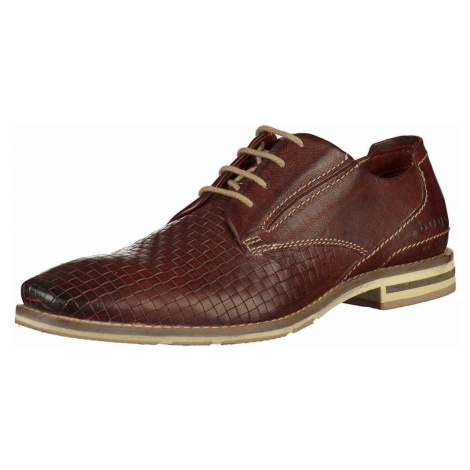 Herren Bugatti Business Schuhe rot
