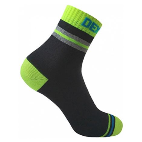 Socken DexShell Pro Visibility Cycling Sock Yellow streifen