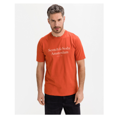 Scotch & Soda Logo Artwork T-Shirt Orange