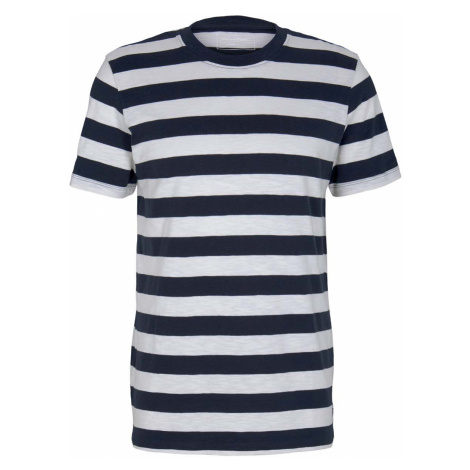 TOM TAILOR DENIM Herren gestreiftes T-Shirt, blau