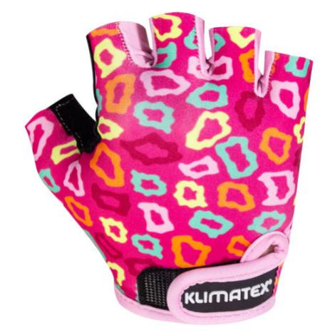 Klimatex KOTTE violett - Radlerhandschuhe für Kinder