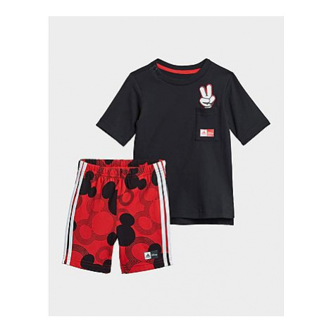 Adidas Disney Mickey Mouse Sommer-Set - Black / White / Vivid Red, Black / White / Vivid Red