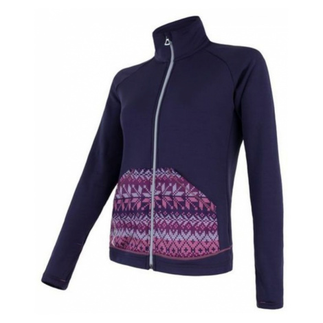Damen Sweatshirt Sensor Tecnostretch Pattern Fullzip violet 17200078