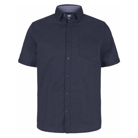 TOM TAILOR Herren kurzärmliges Hemd, blau