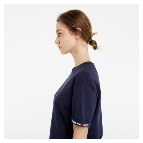 Tommy Jeans Crop Branded Tee Navy Tommy Hilfiger