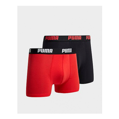 Puma 2 Pack Boxershorts Herren - Red/Black - Herren, Red/Black