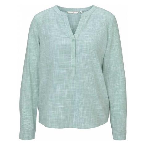 TOM TAILOR Damen Strukturierte Henley Bluse, grün